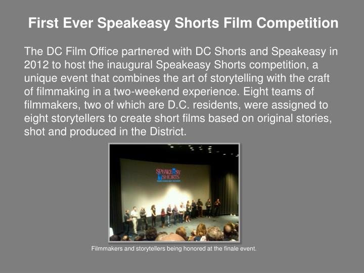 First Ever Speakeasy Shorts Film Competition