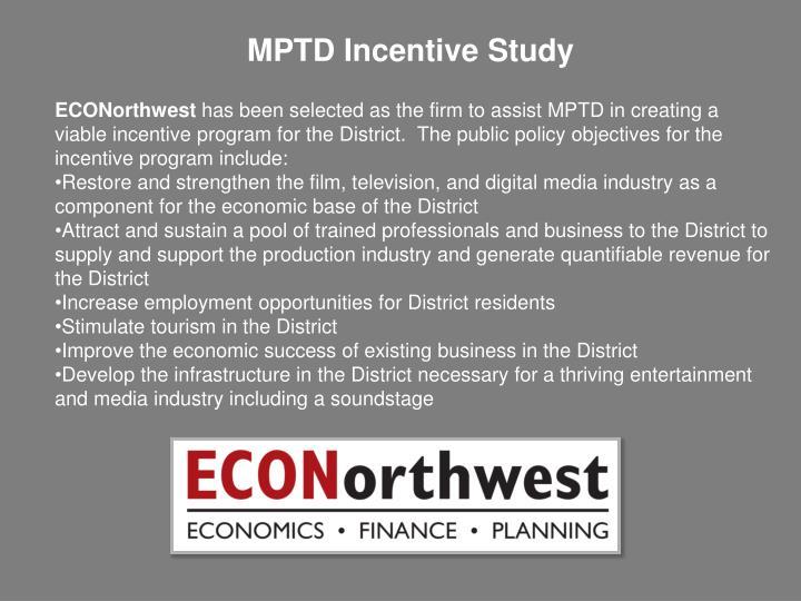 MPTD Incentive Study