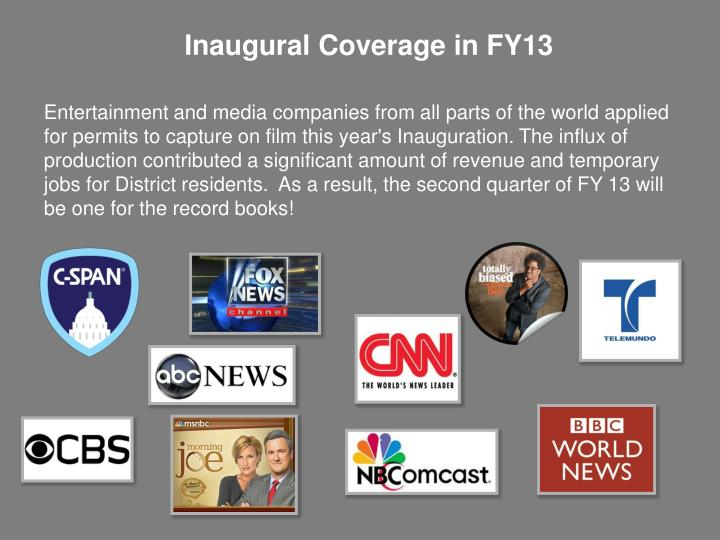 Inaugural Coverage in FY13