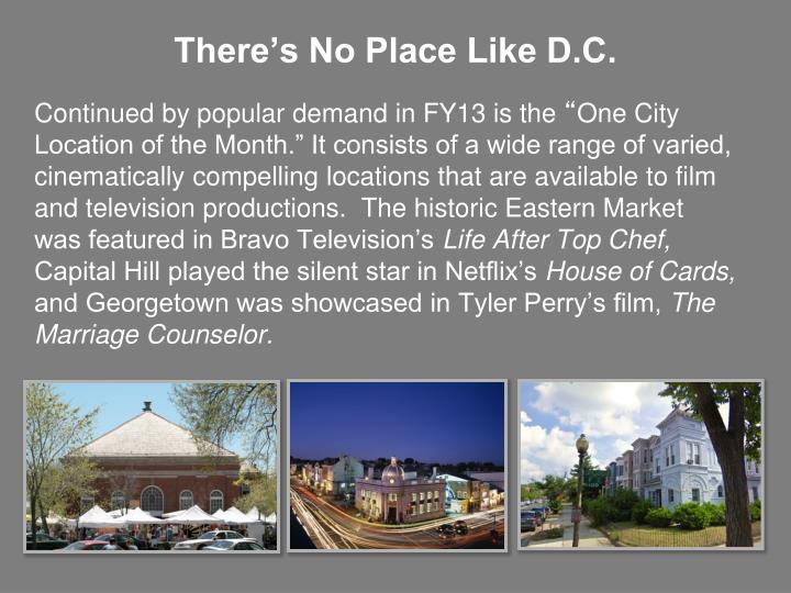 There's No Place Like D.C.