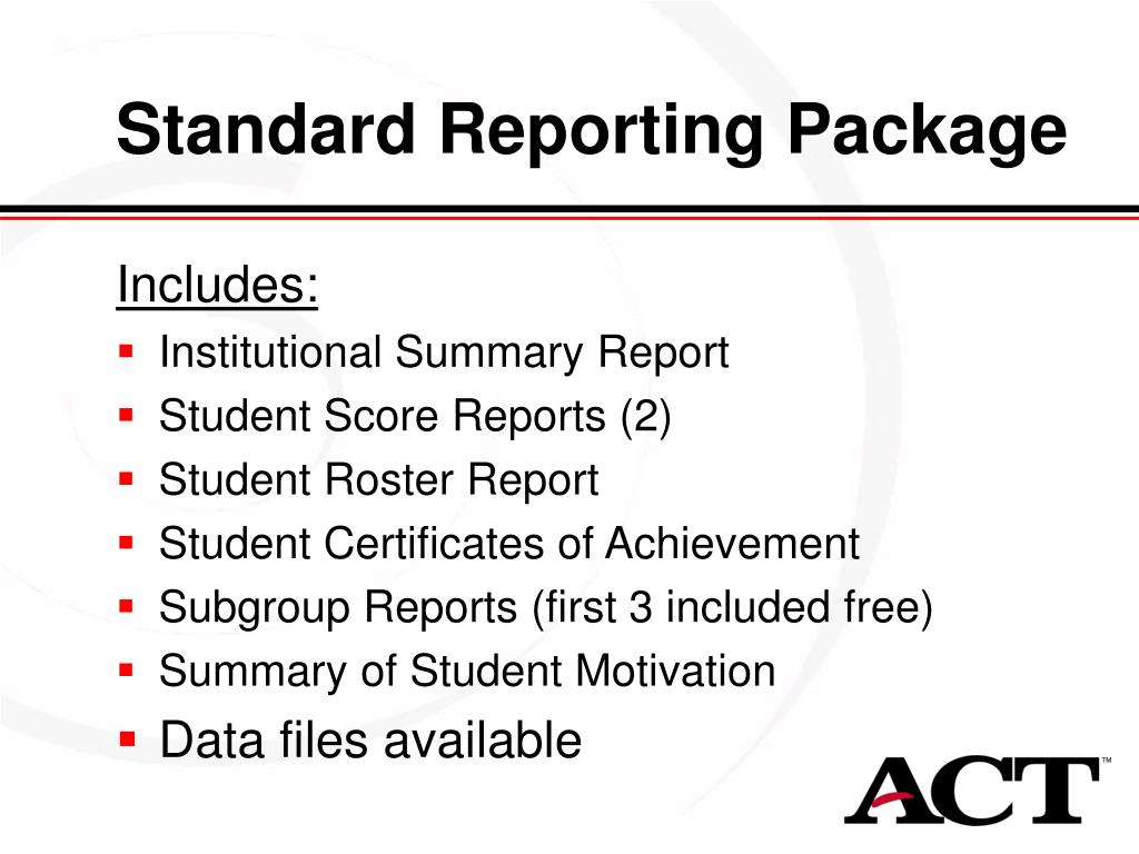 Standard Reporting Package
