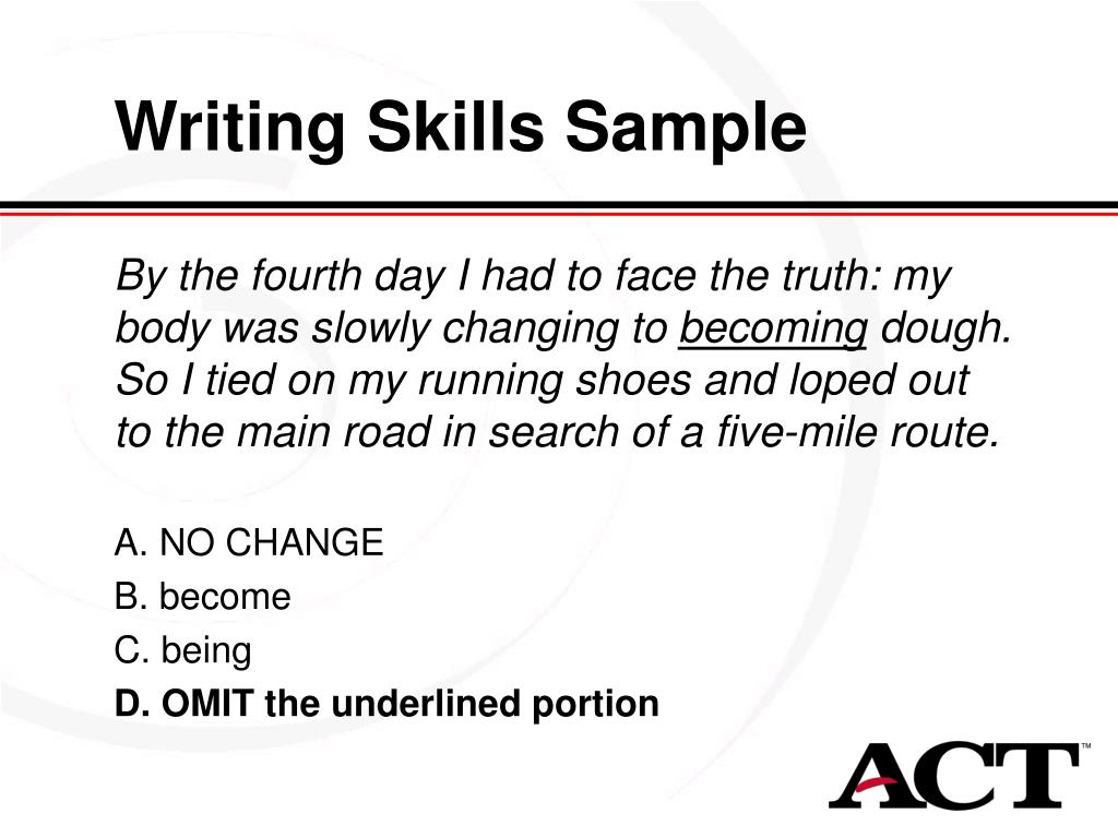 Writing Skills Sample