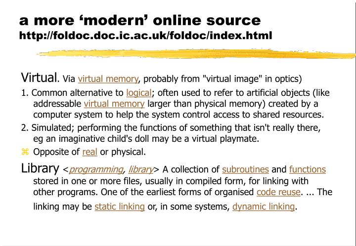 a more 'modern' online source