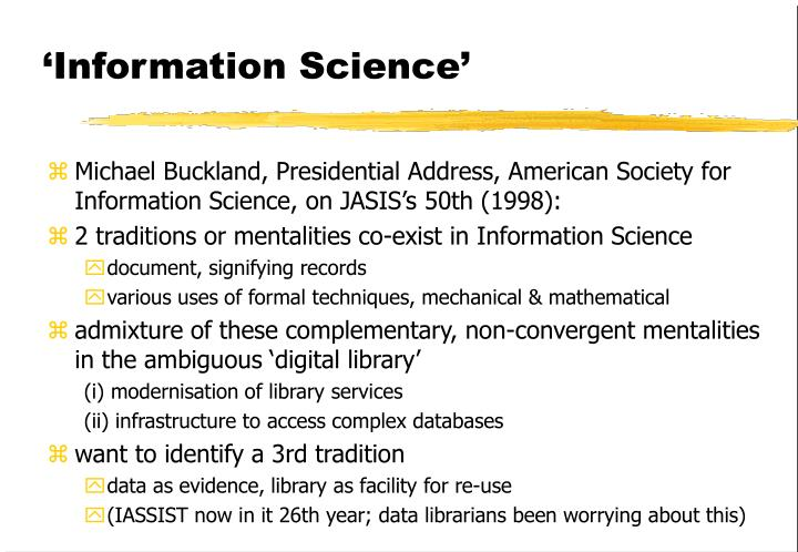 'Information Science'