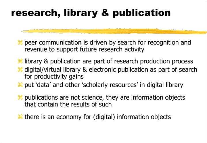 research, library & publication