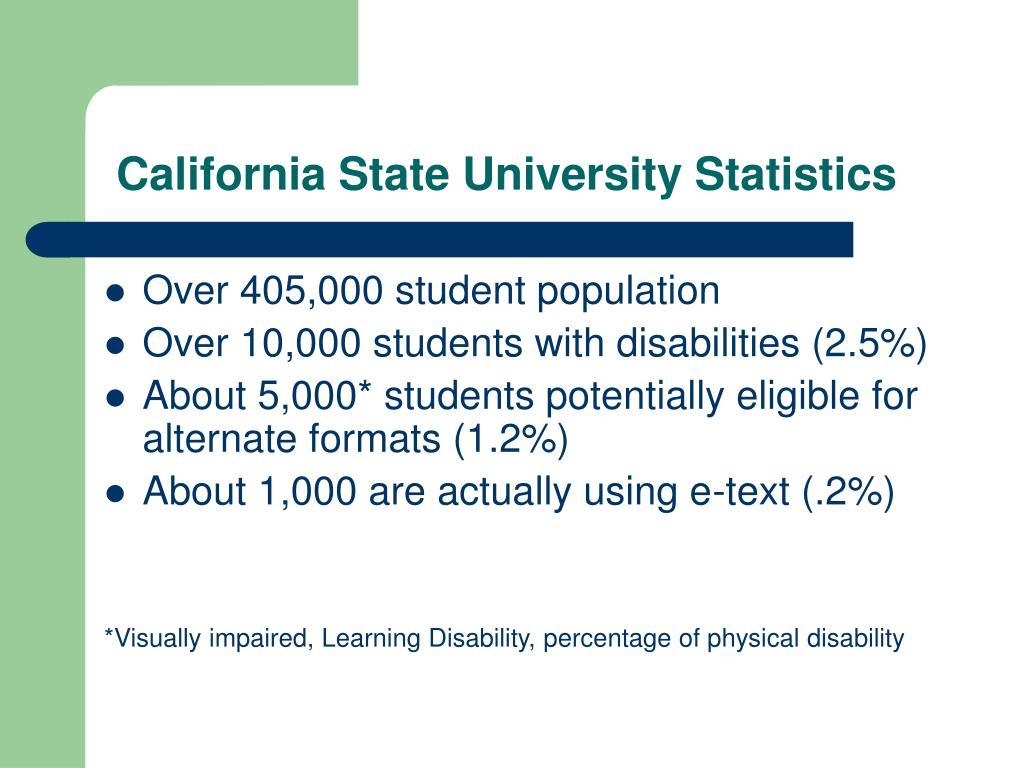 California State University Statistics