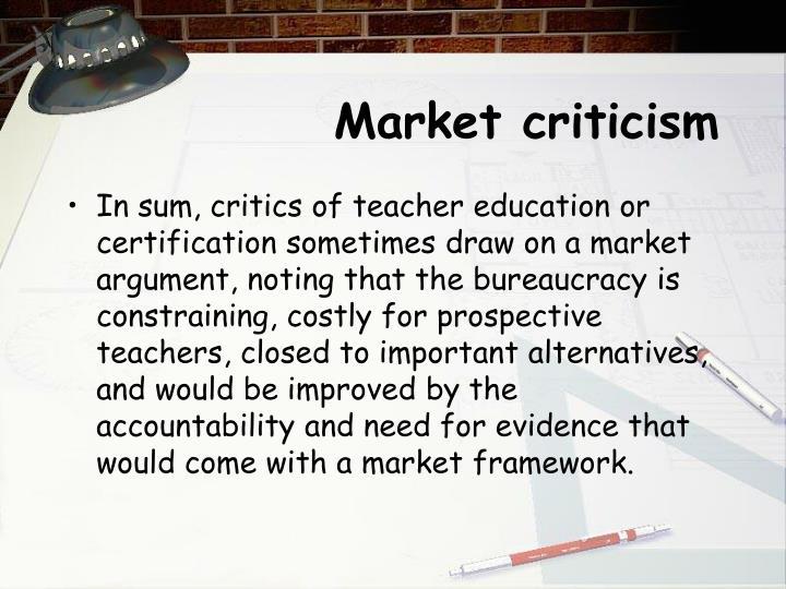 Market criticism