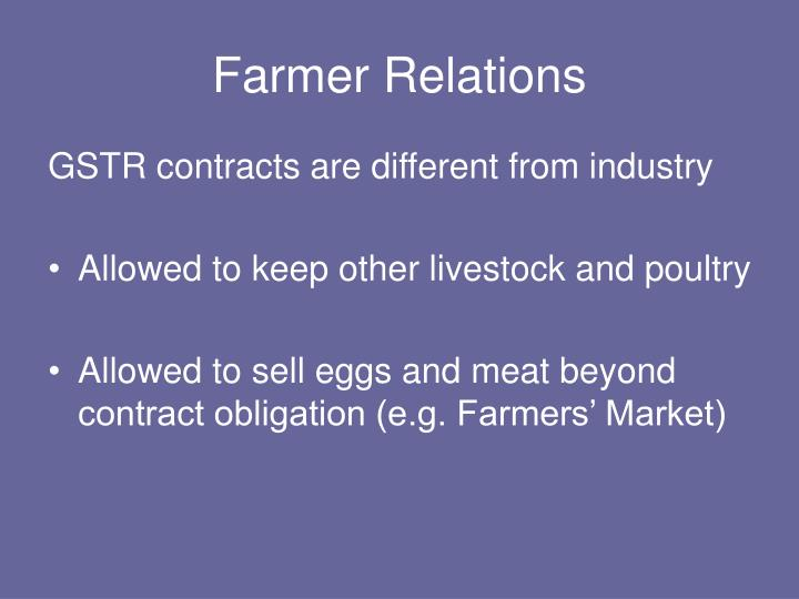 Farmer Relations