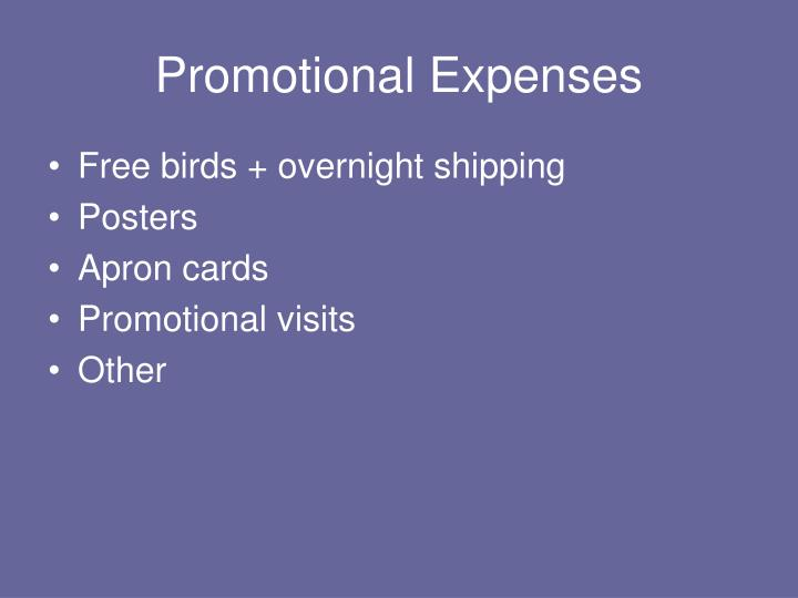Promotional Expenses