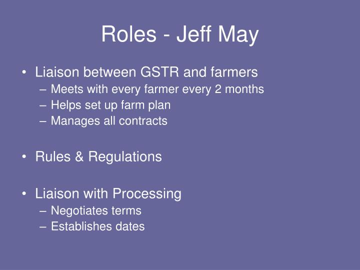 Roles - Jeff May