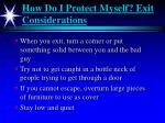 how do i protect myself exit considerations1
