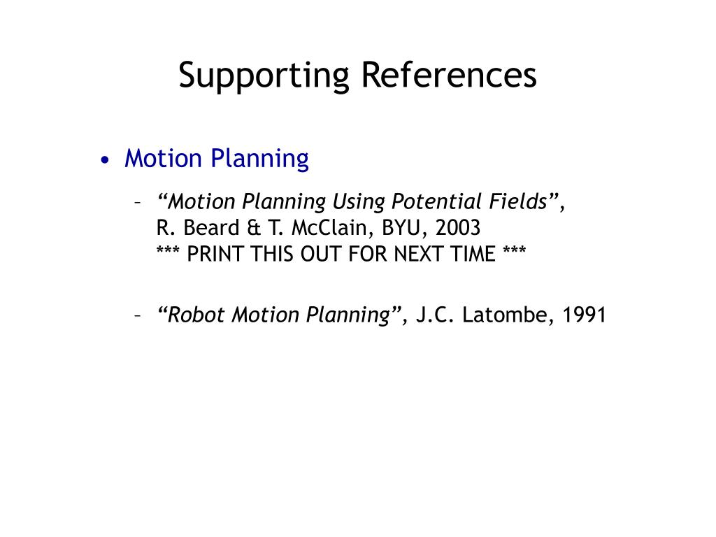 Supporting References