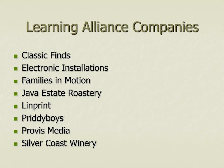 Learning alliance companies