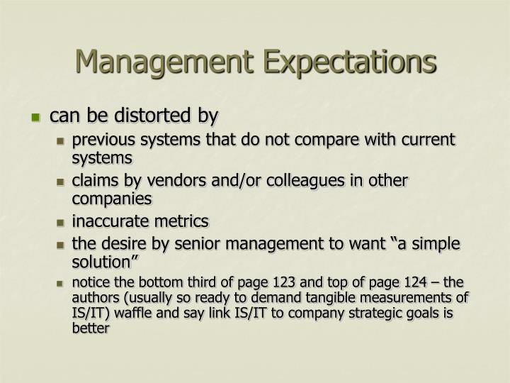 Management Expectations