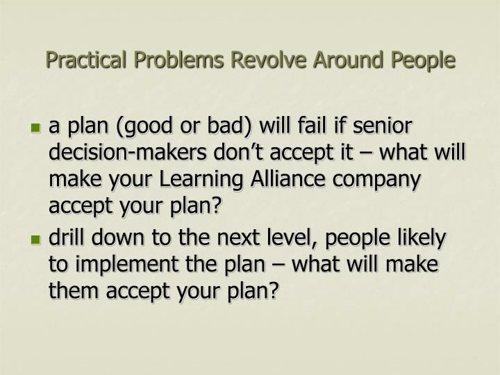 Practical Problems Revolve Around People