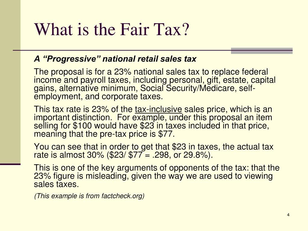 What is the Fair Tax?