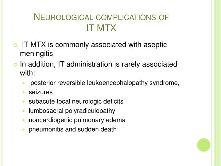 Neurological complications of