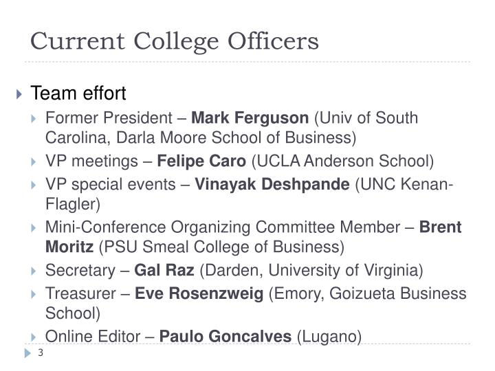 Current College Officers