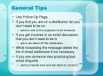 general tips