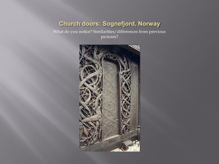 Church doors: