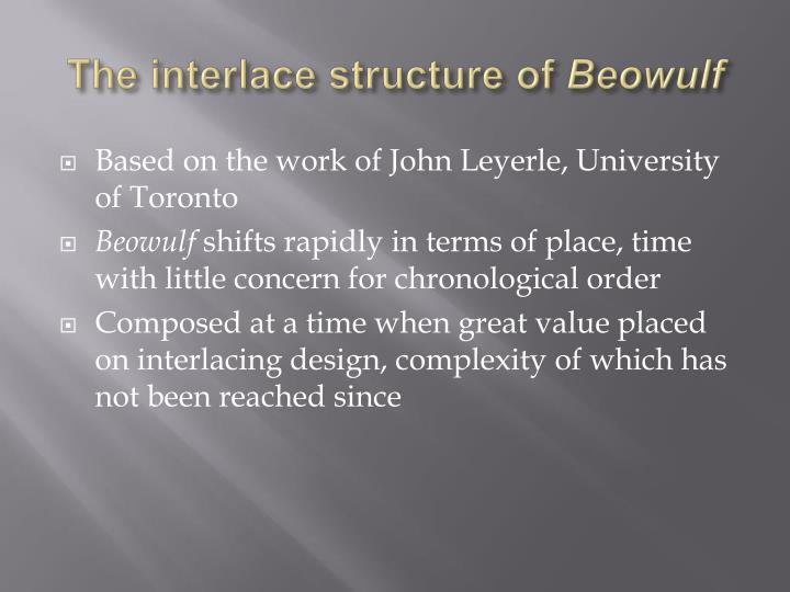 The interlace structure of