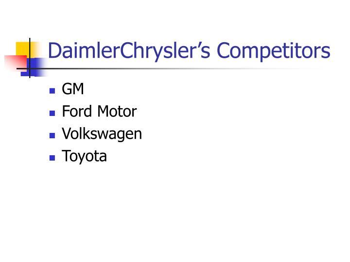 DaimlerChrysler's Competitors