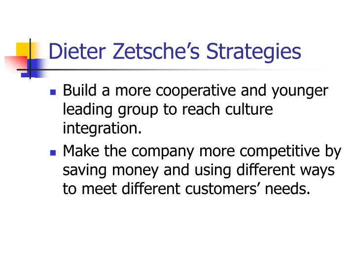 Dieter Zetsche's Strategies