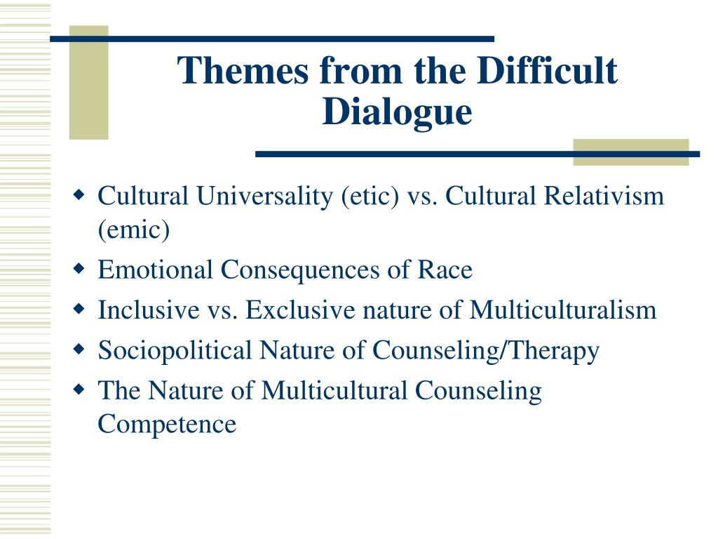 multicultural counseling and therapy mct These chapters represent [the editors'] conceptualization of a theory of mct [ multicultural counseling and therapy] the text is divided into 4 major parts.