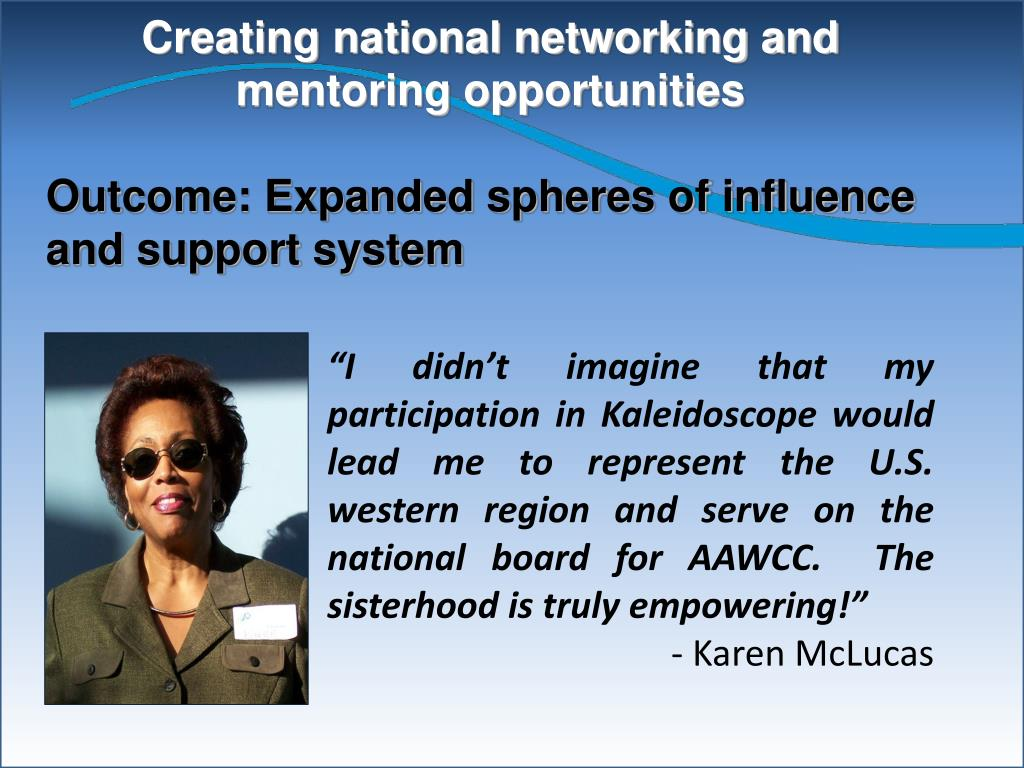 Creating national networking and mentoring opportunities