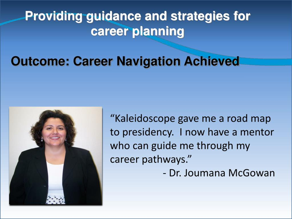 Providing guidance and strategies for career planning