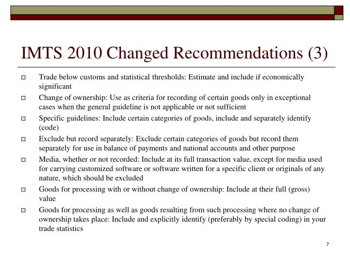 IMTS 2010 Changed Recommendations (3)