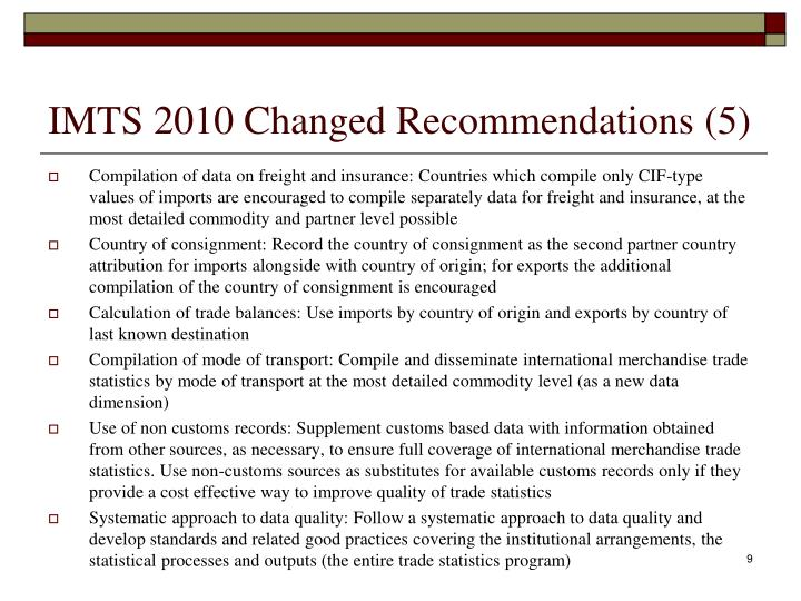 IMTS 2010 Changed Recommendations (5)