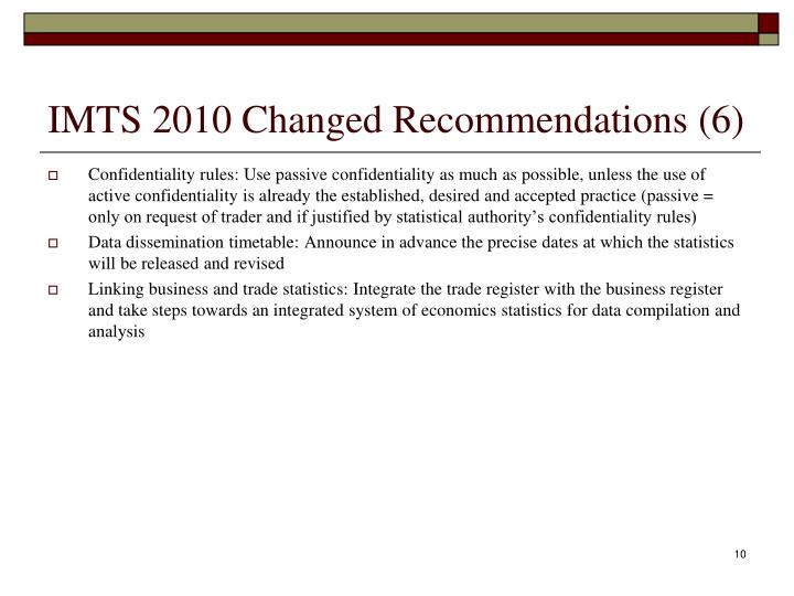 IMTS 2010 Changed Recommendations (6)