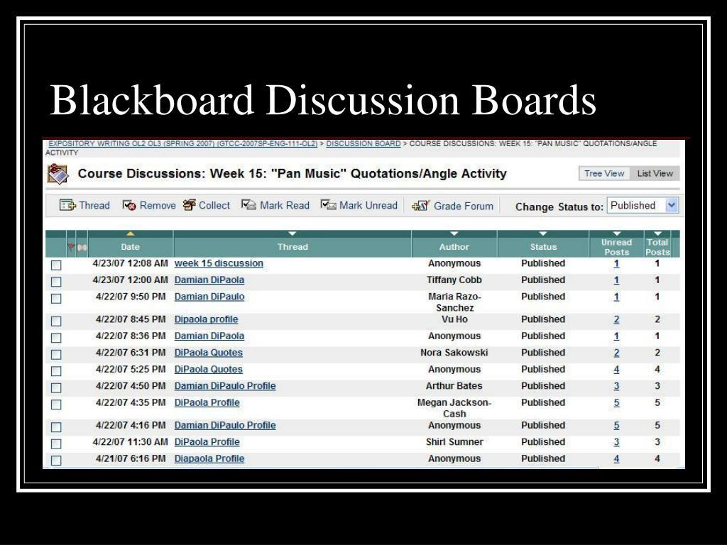 Blackboard Discussion Boards