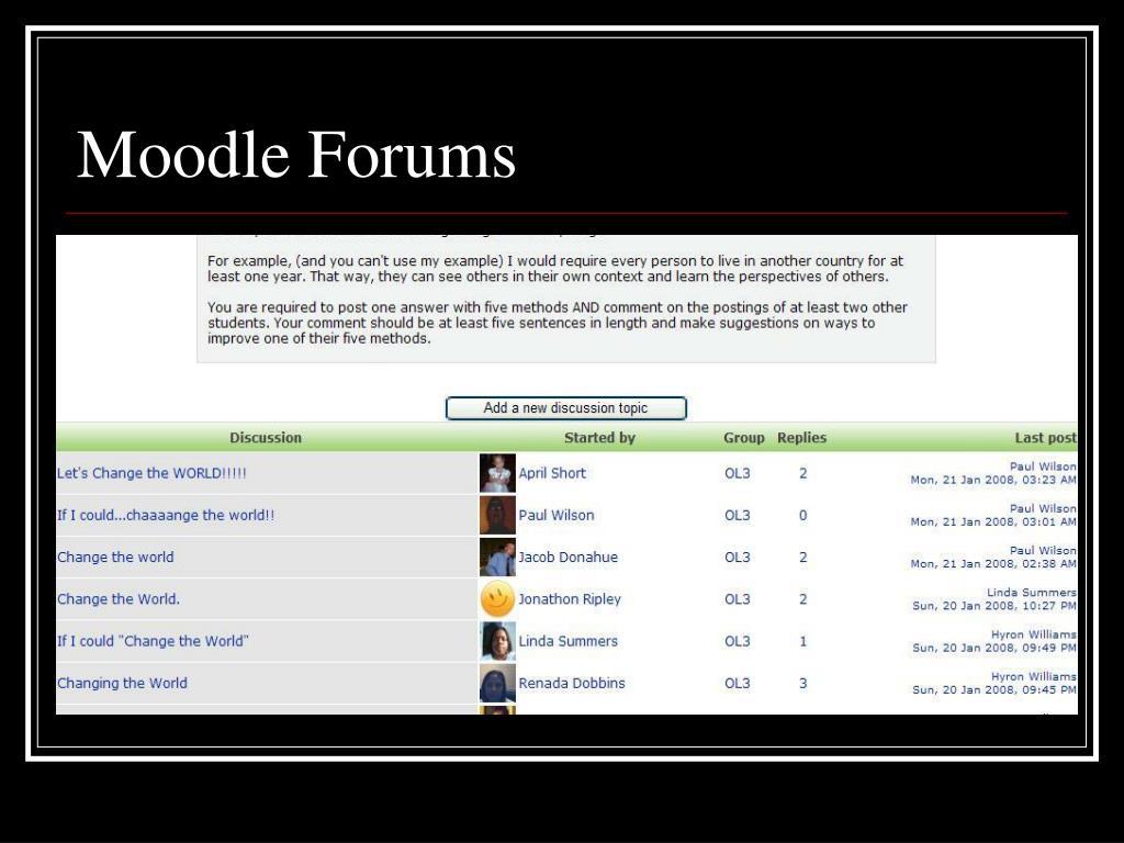 Moodle Forums