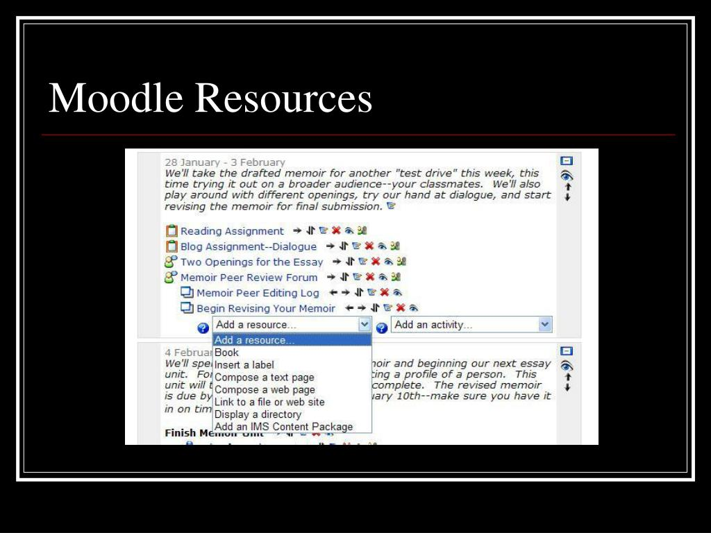 Moodle Resources
