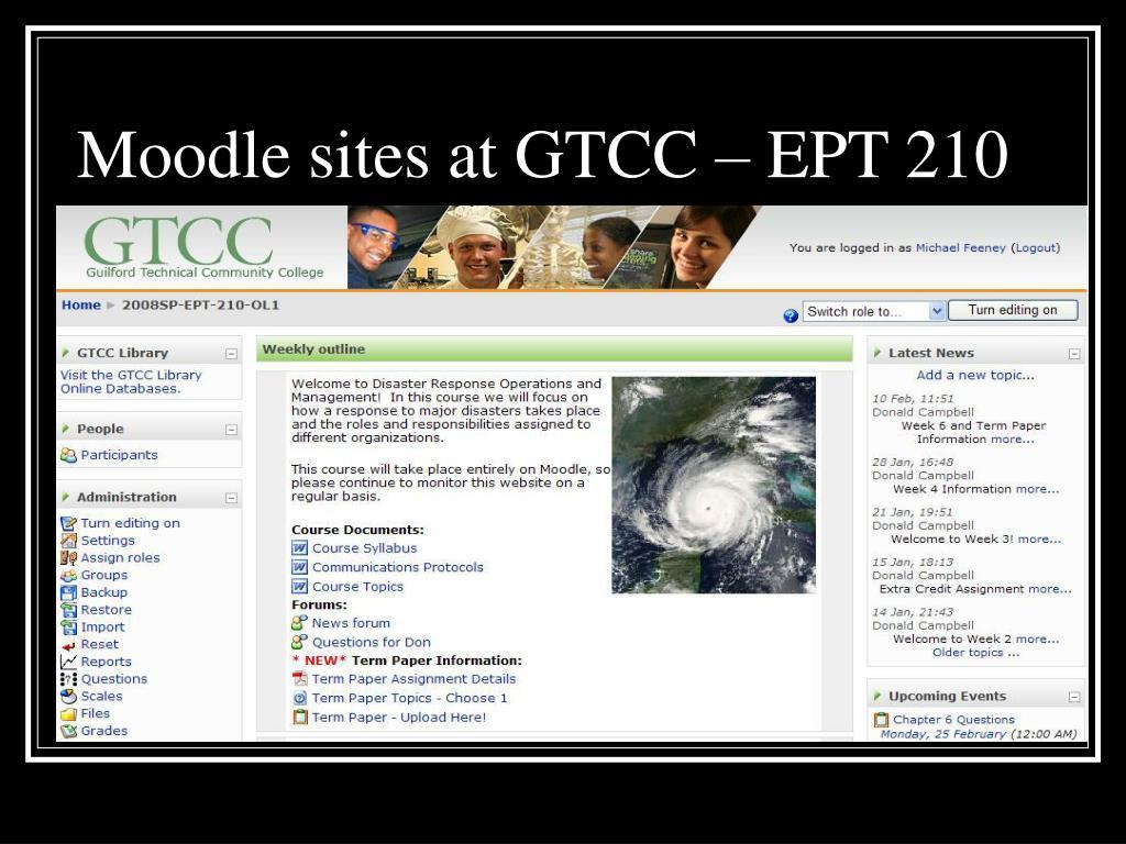 Moodle sites at GTCC – EPT 210