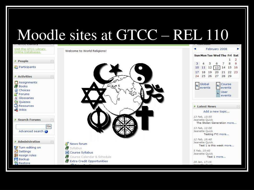 Moodle sites at GTCC – REL 110
