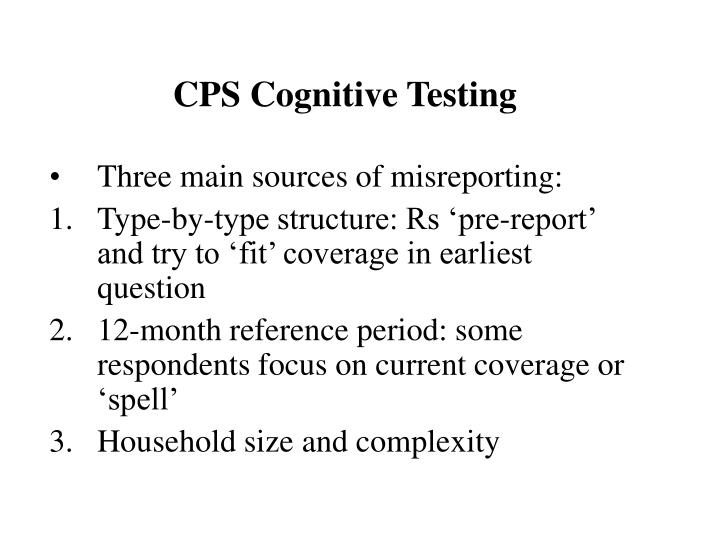 CPS Cognitive Testing