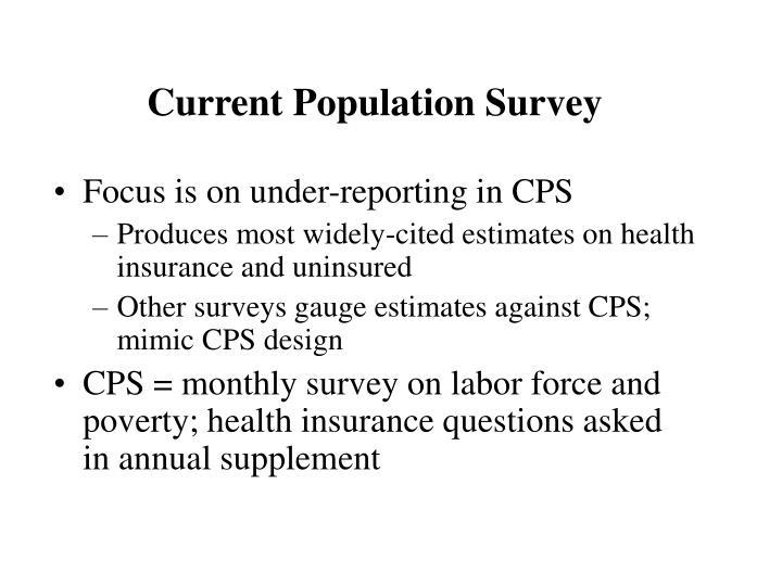 Current Population Survey