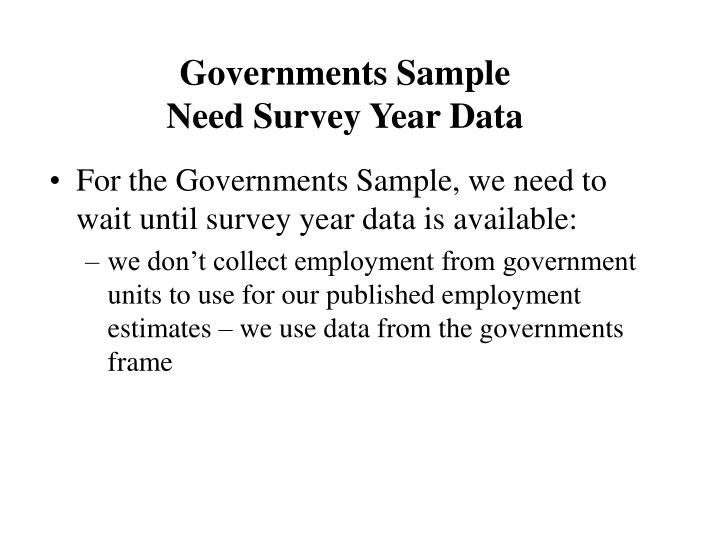 Governments Sample