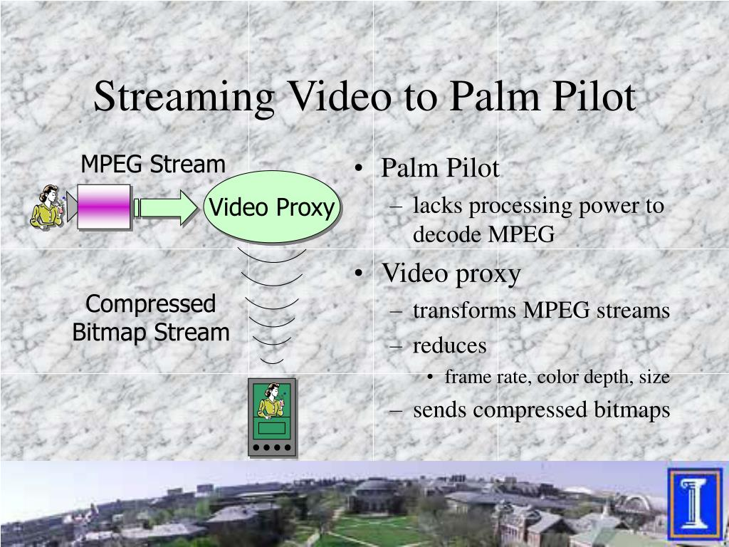 Streaming Video to Palm Pilot
