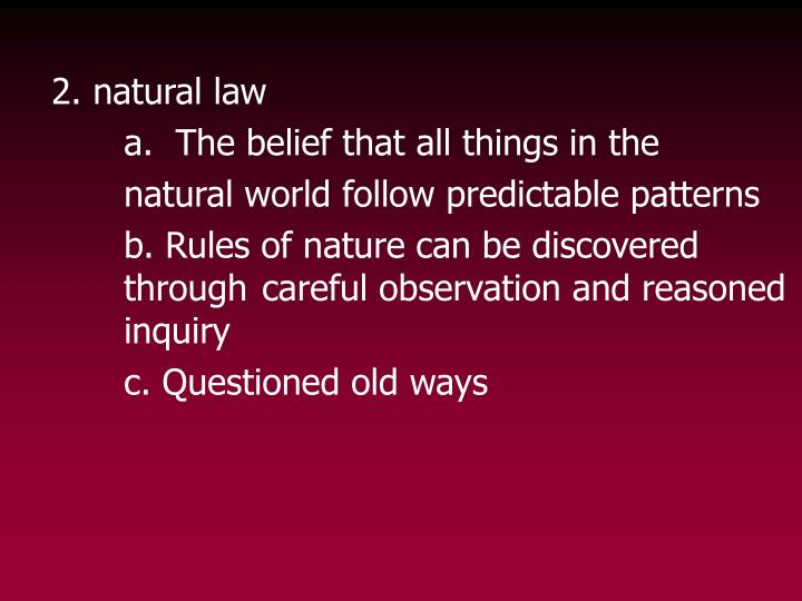 2. natural law