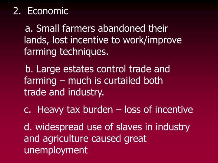 2.  Economic