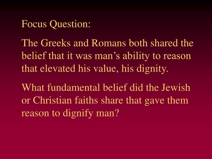 Focus Question: