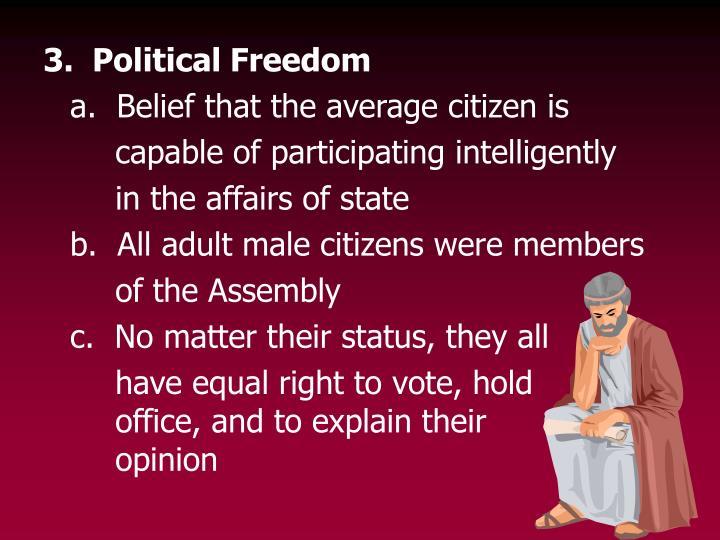 3.  Political Freedom