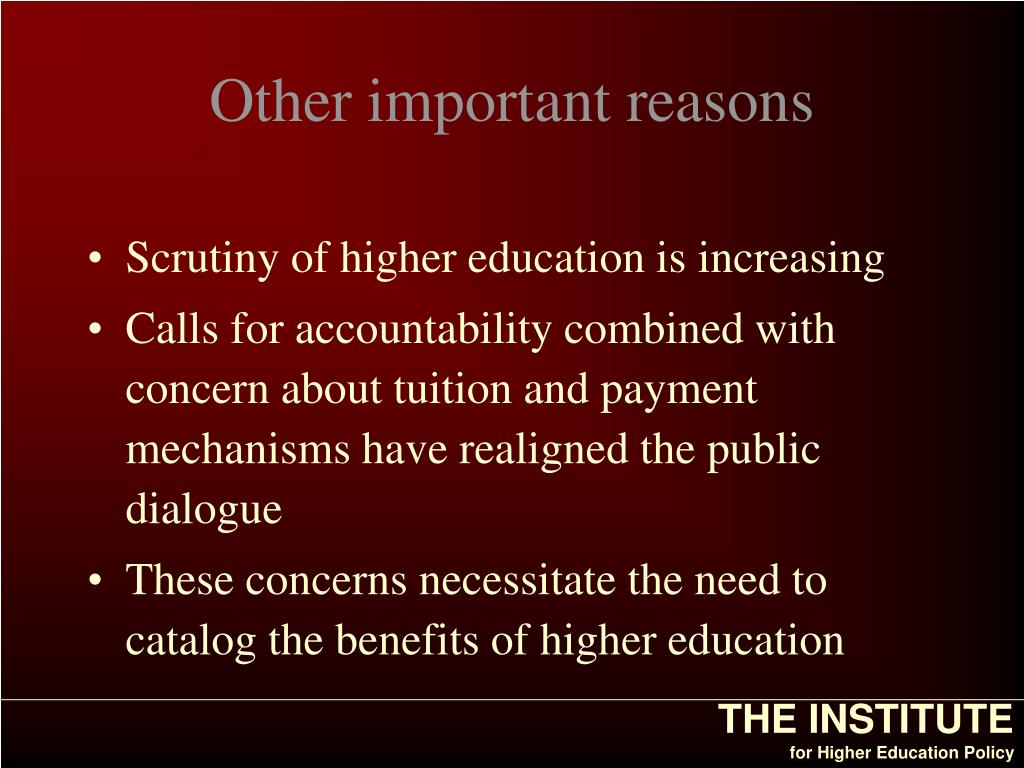 Other important reasons