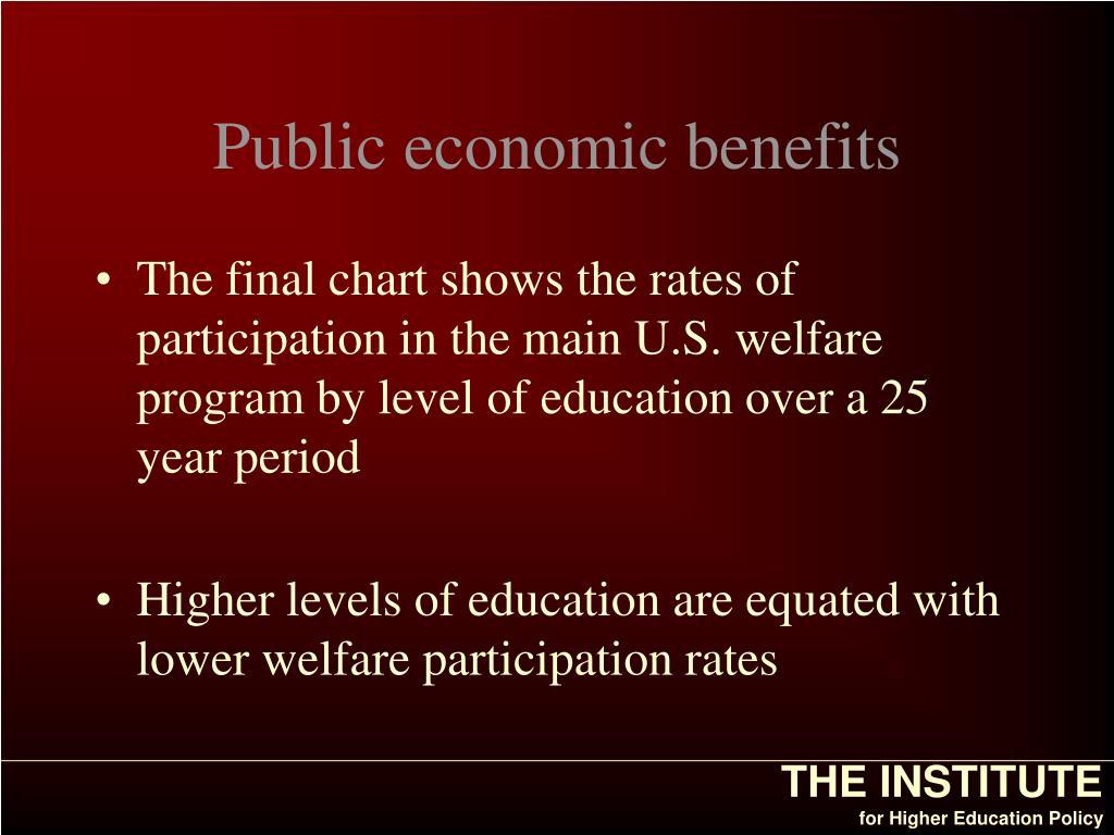 Public economic benefits
