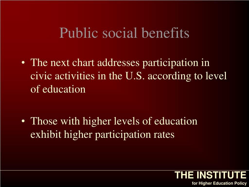 Public social benefits
