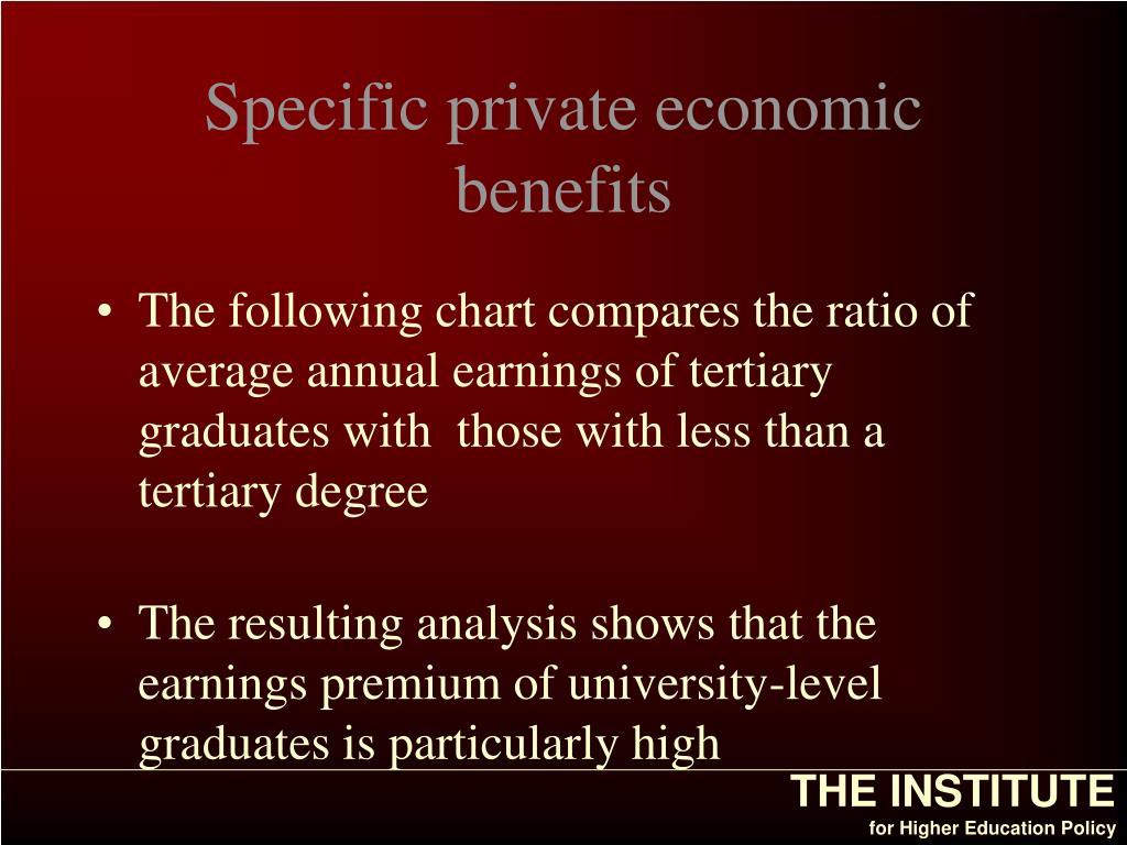 Specific private economic benefits